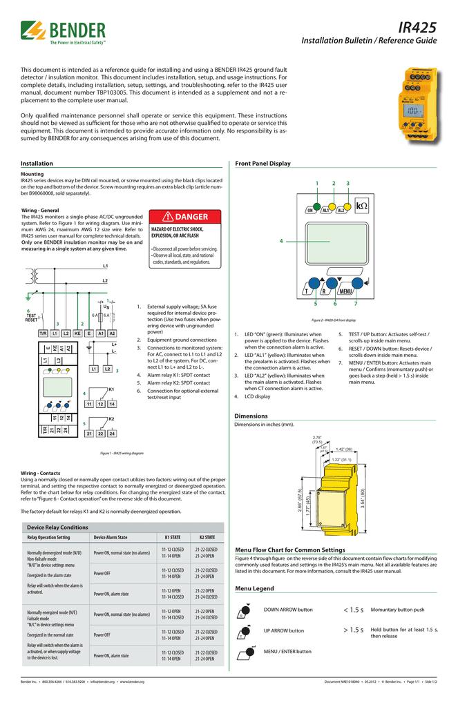 Installation Bulletin: IR425   manualzz com