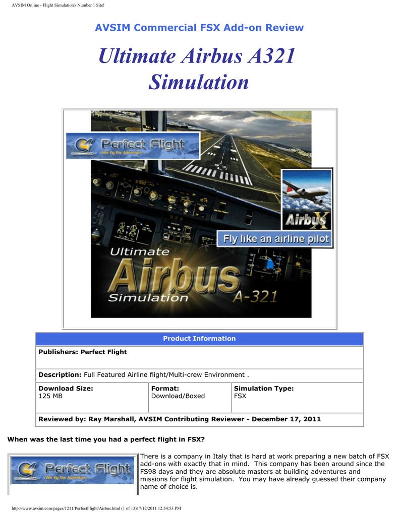 Ultimate Airbus A321 Simulation | manualzz com