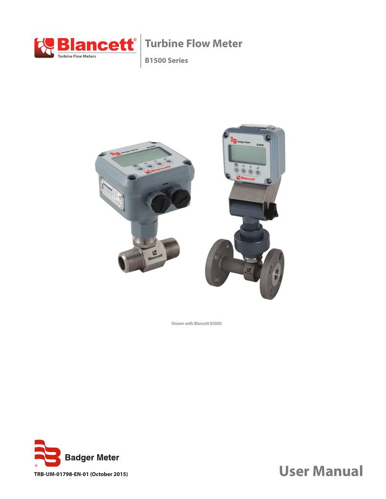 Turbine Flow Meter | manualzz com