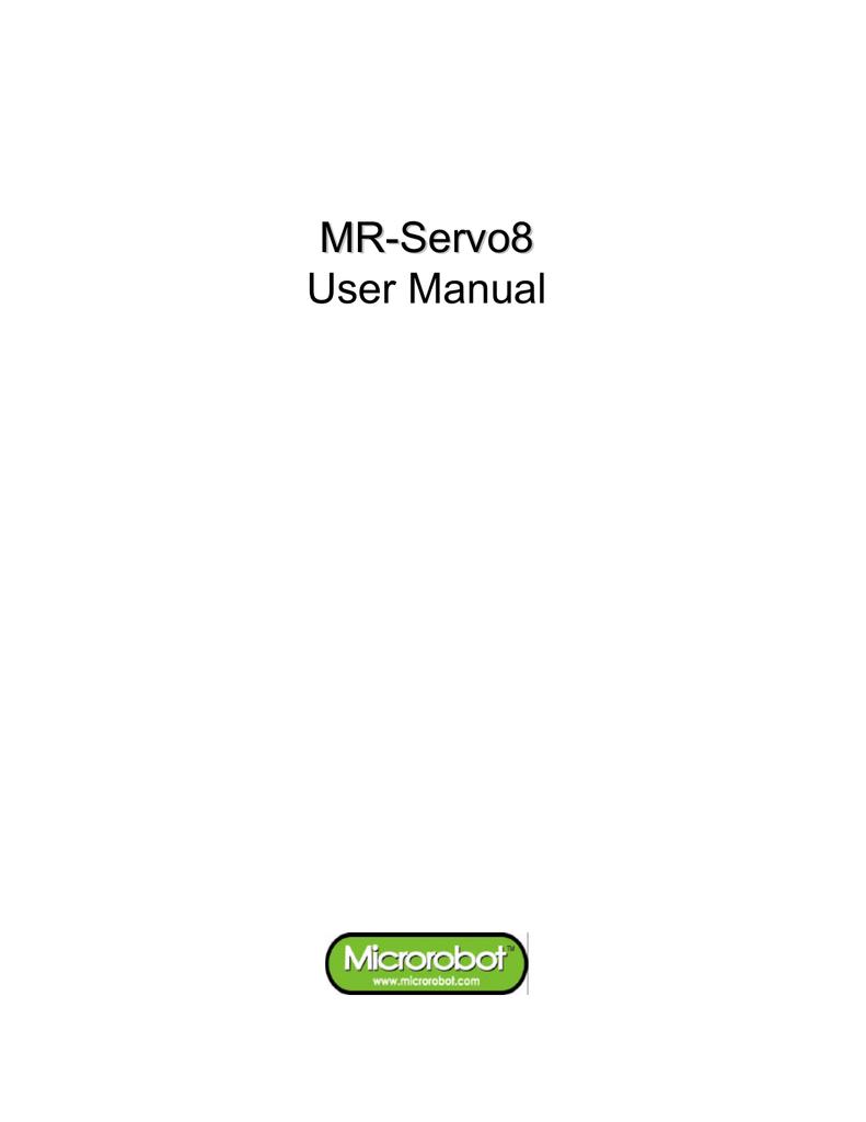 MR-Servo8 User Manual(Eng)  | manualzz com