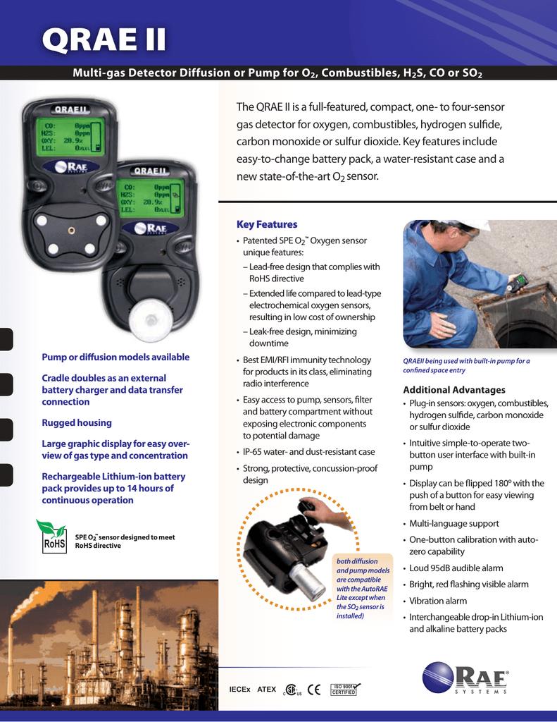QRAE II Multi-Gas Detector, Diffusion or Pump | manualzz com
