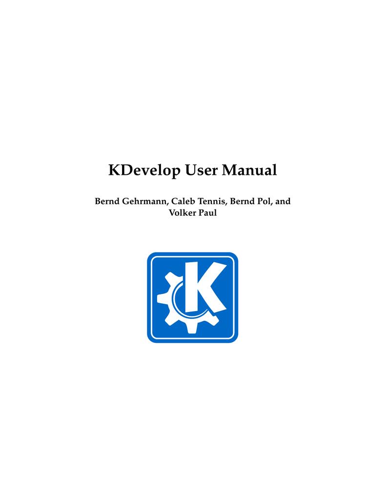 KDevelop User Manual | manualzz com