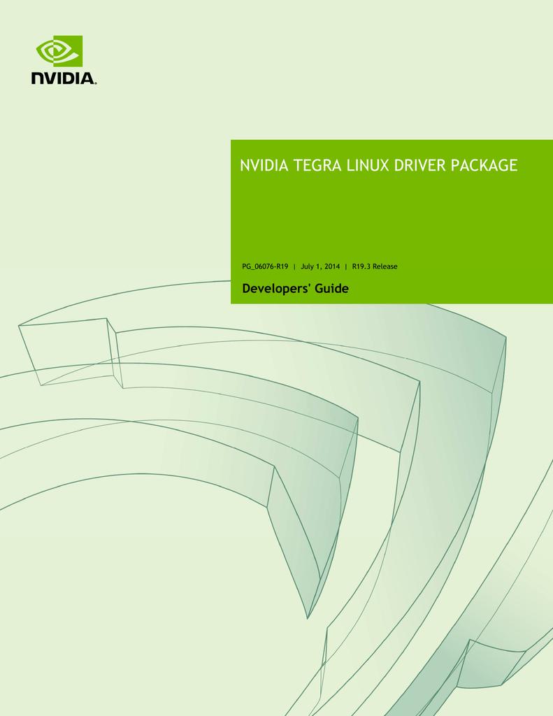 NVIDIA Tegra Linux Driver Package Developers` Guide | manualzz com