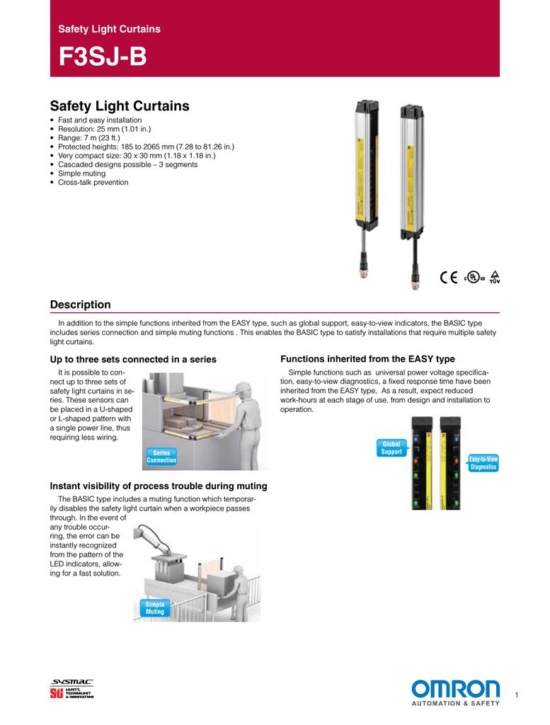 Safety Light Curtains F3SJ-B | manualzz.com on