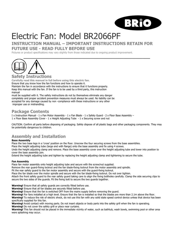 Br2066pf user manual publicscrutiny Gallery