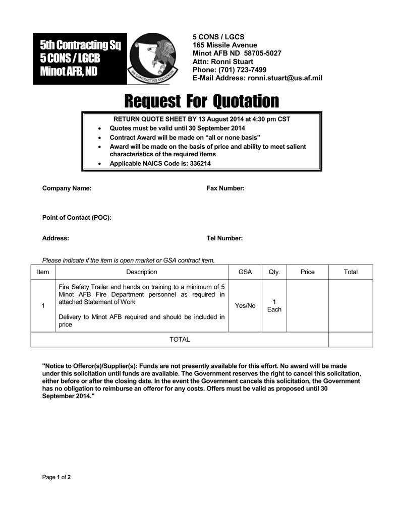 Request For Quotation | manualzz com