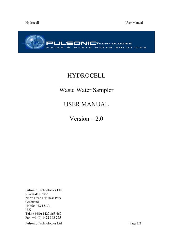 Hydrocell User Manual | manualzz com