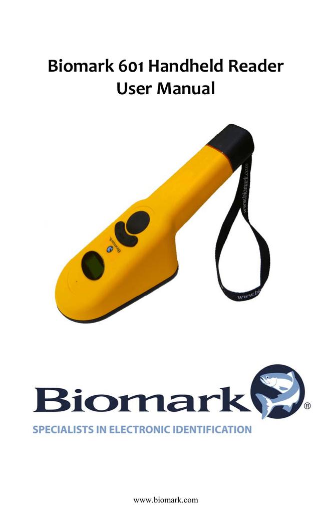 Biomark 601 Reader Manual Rev 11-14 | manualzz com