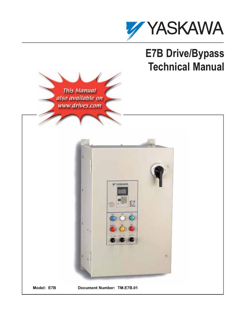 Yaskawa E7B Drive O&M - Coward Environmental Systems   manualzz com