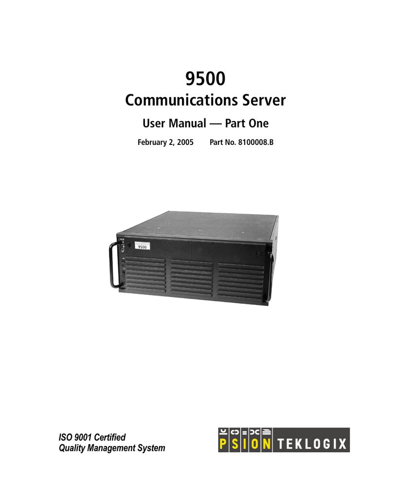 9500 communications server user manual