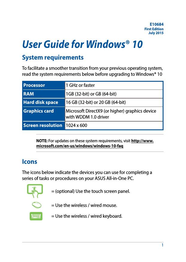 User Guide for Windows®10 | manualzz com