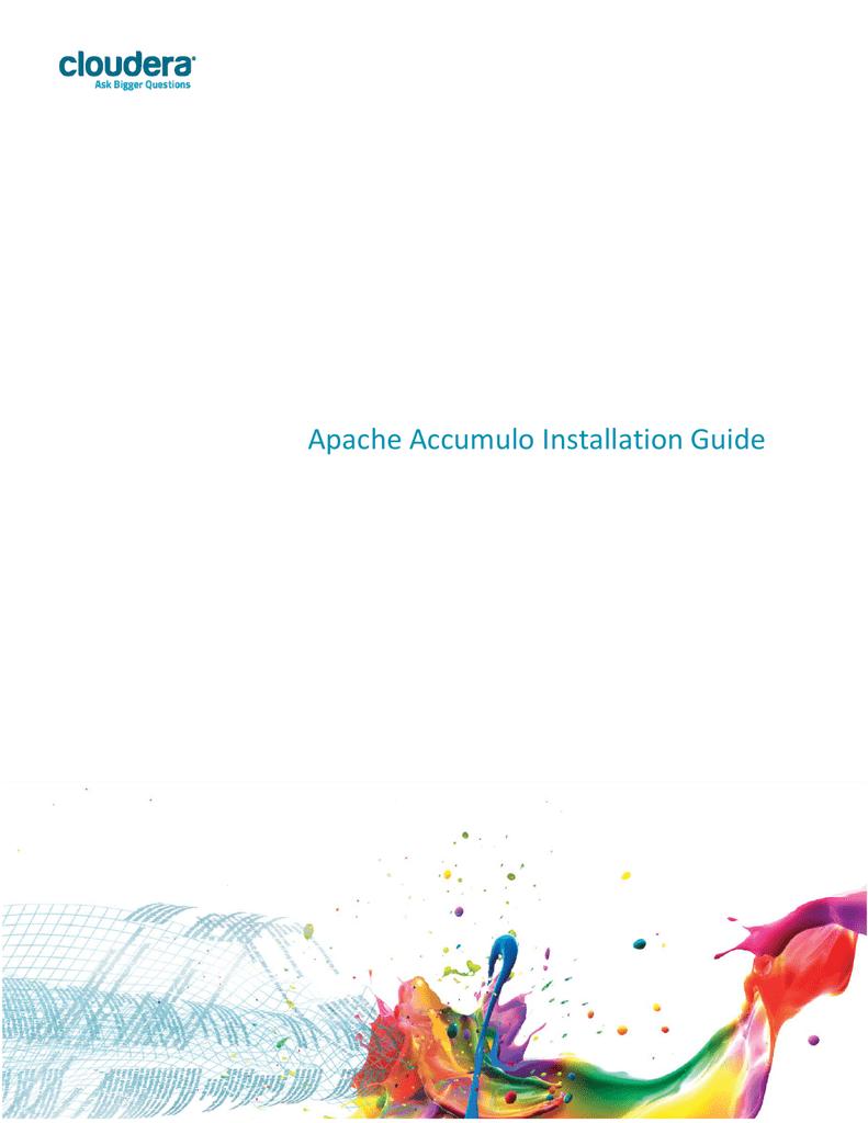 Apache Accumulo Installation Guide | manualzz com