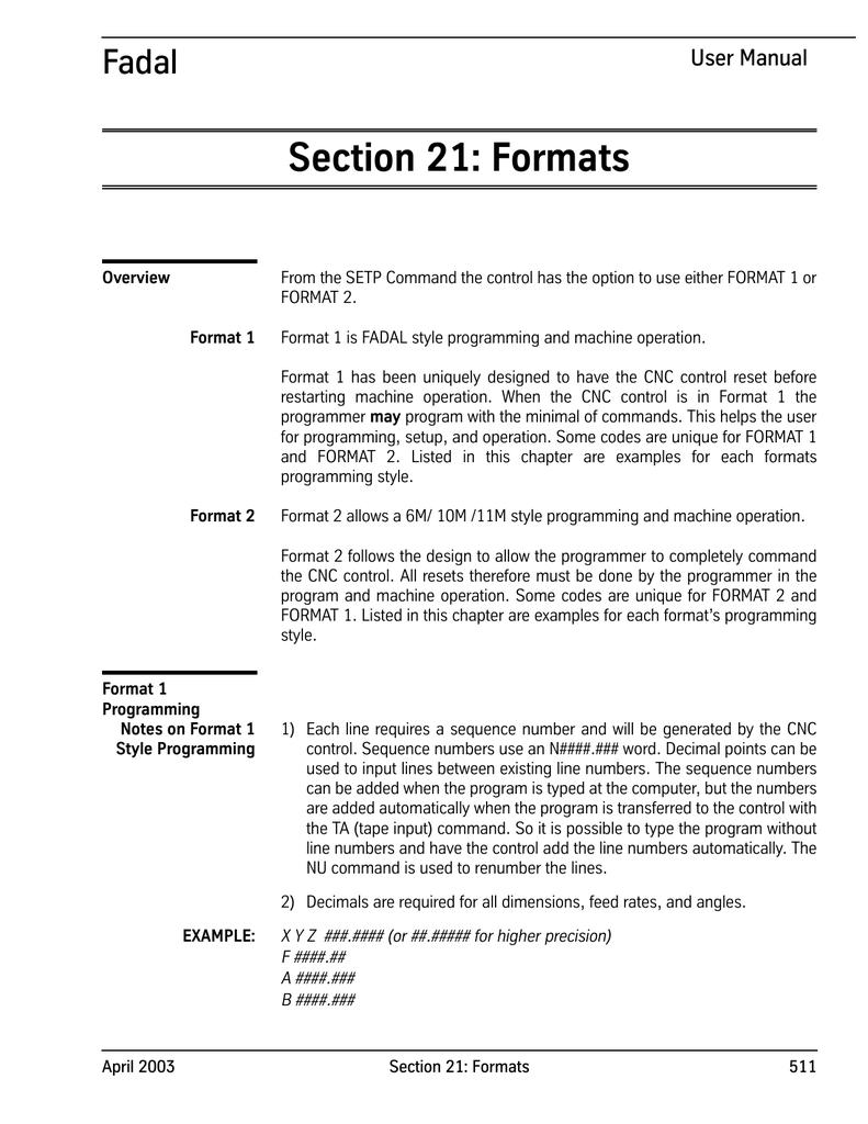 Sect 21-Formats - Flint Machine Tools, Inc  | manualzz com