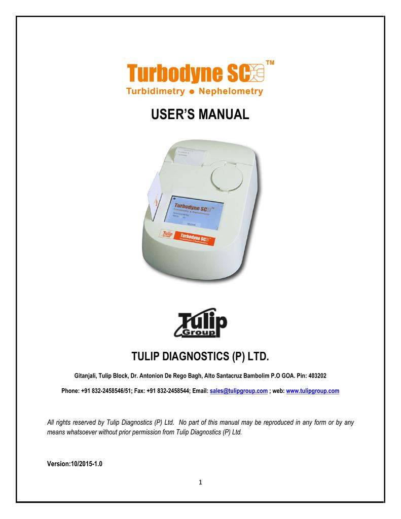 USER`S MANUAL - The Tulip Group, India   manualzz com