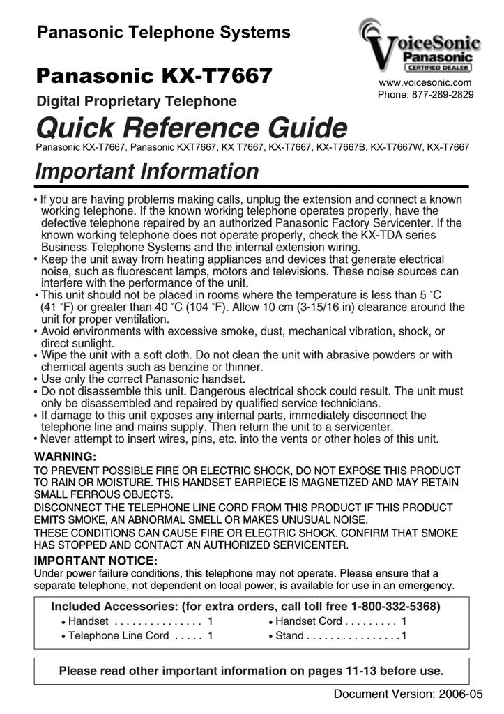 panasonic kx t7667 quick reference guide manualzz com rh manualzz com panasonic kx-t7667 instruction manual panasonic kx-t7667 instruction manual