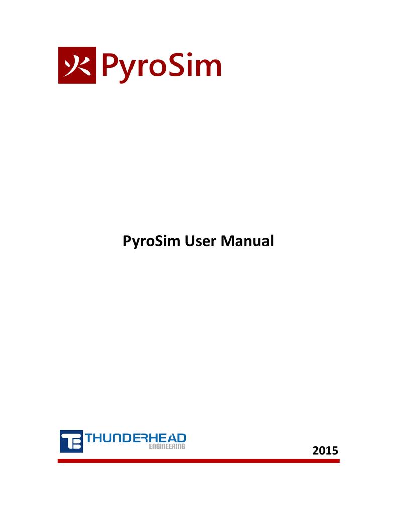 PyroSim User Manual 2010 2 | manualzz com