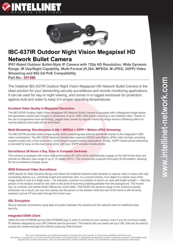IBC-637IR Outdoor Night Vision Megapixel HD Network Bullet