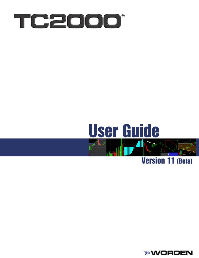 TC2000 User Manual (Beta) | manualzz com