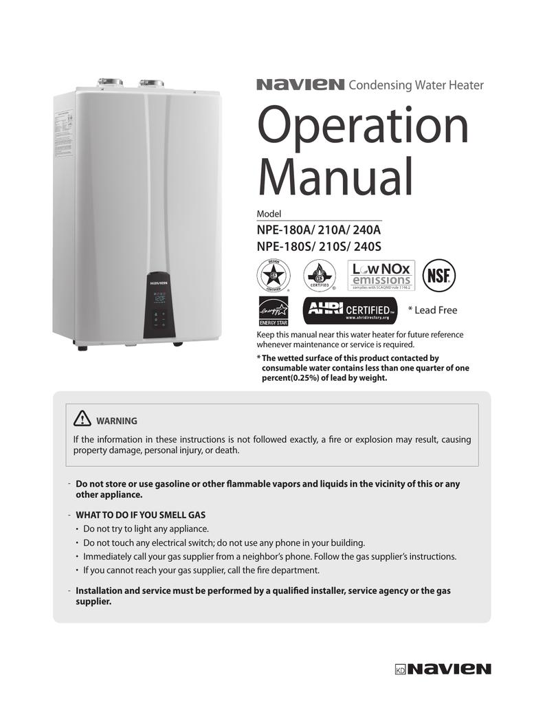 NPE series Operation Manual | manualzz.com on navien 240a venting, navien combi gas water heater, navien np 240a, navien nr-240a manual,