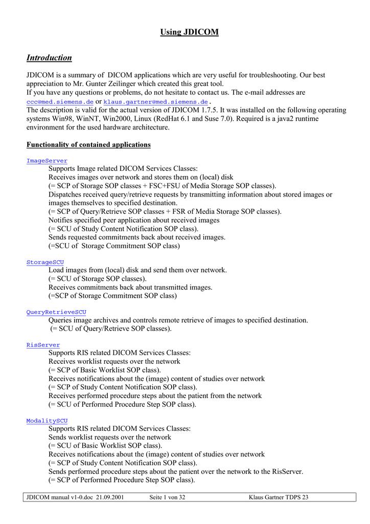 User Manual by Klaus Gartner, SIEMENS Erlangen | manualzz com