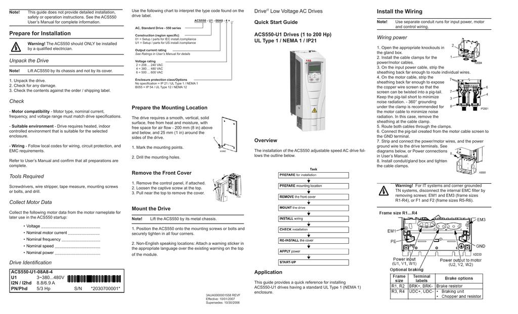 ABB Drives - AC - ACS550 Series -Nema 1 | manualzz.com on