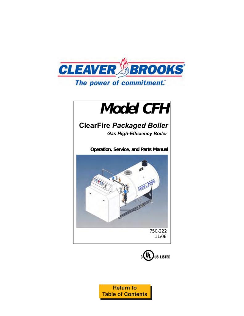 Model CFH w/ CB90-RWF40 – 750-222, 5/2007 or 11/2008 edition ... on