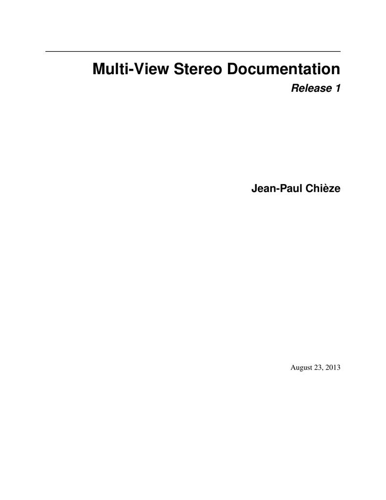 Multi-View Stereo Documentation Release 1 Jean | manualzz com