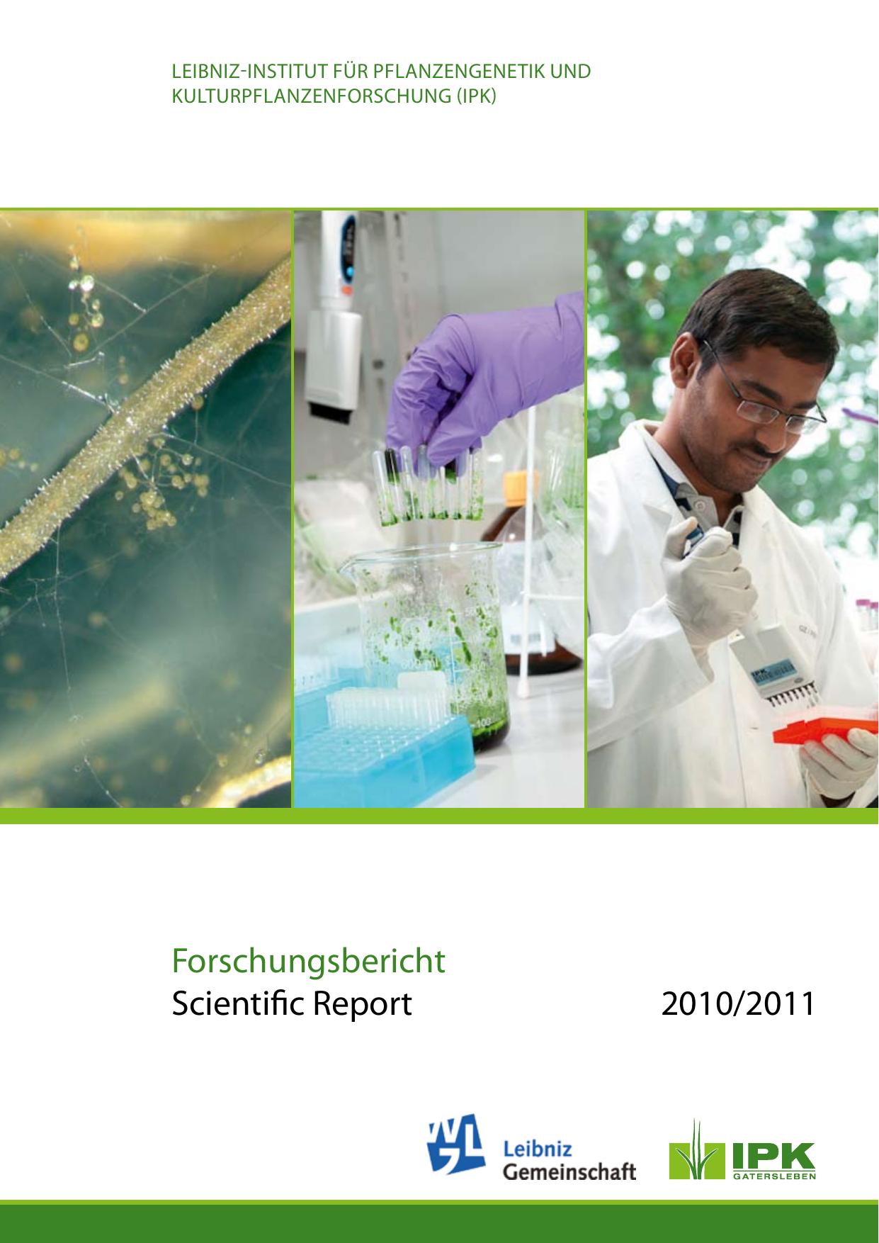 2010/2011 Forschungsbericht Scientific Report | manualzz com