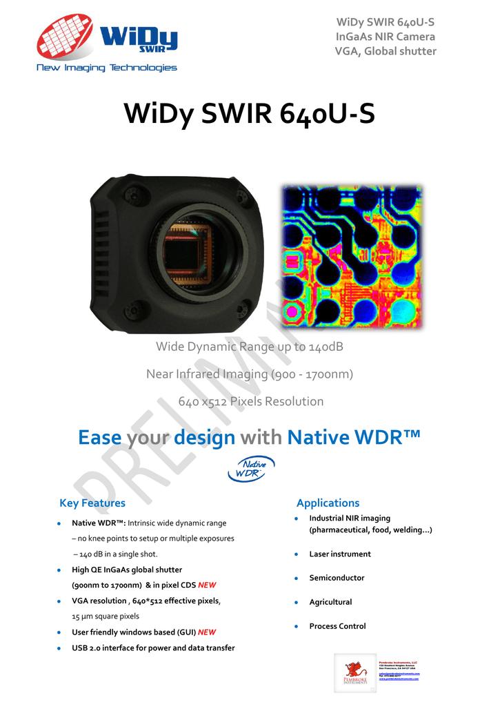 WiDy SWIR 640U-S - Pembroke Instruments | manualzz com