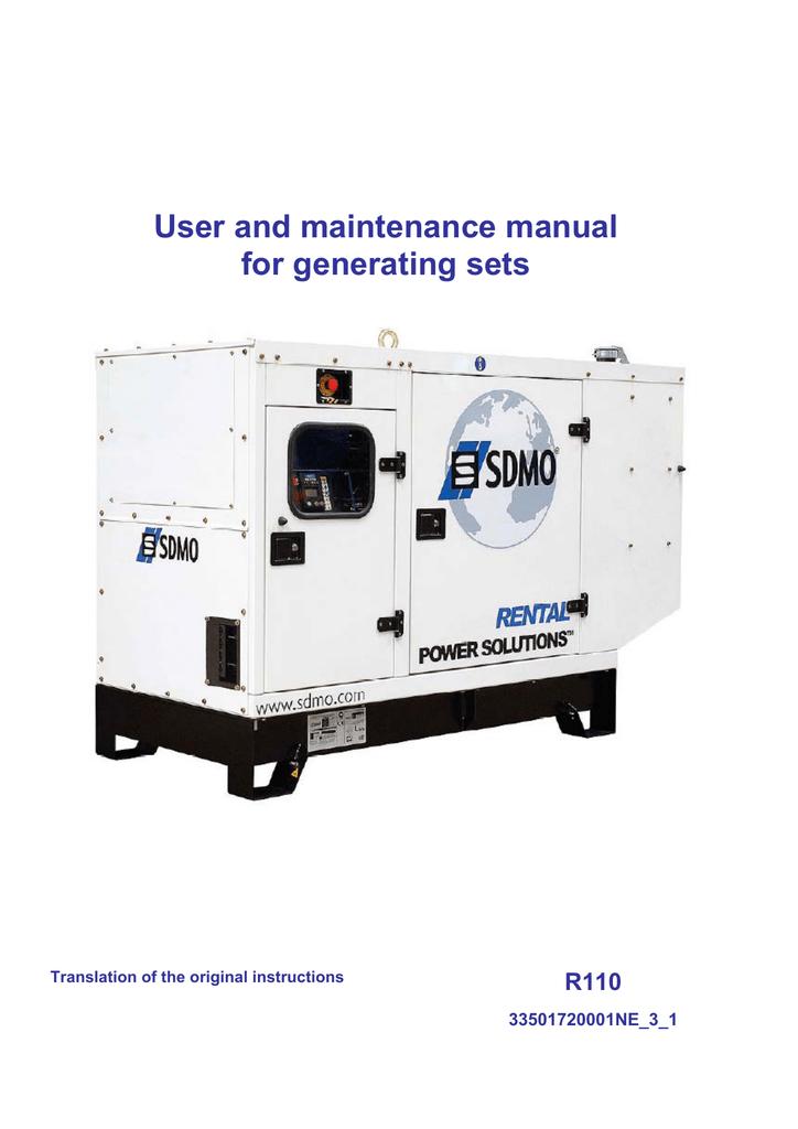 generating set r110 user manual sdmo manualzz com rh manualzz com