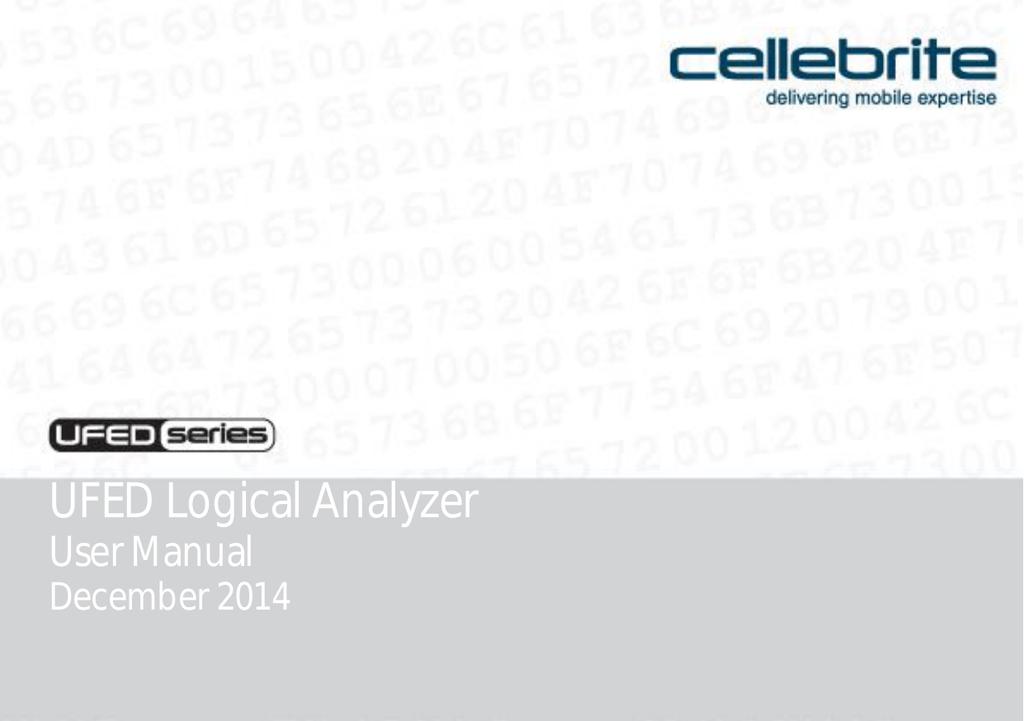 UFED Logical Analyzer | manualzz com