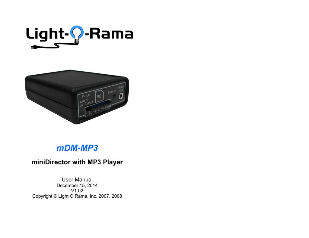 mDM-MP3 - Light-O-Rama | manualzz com