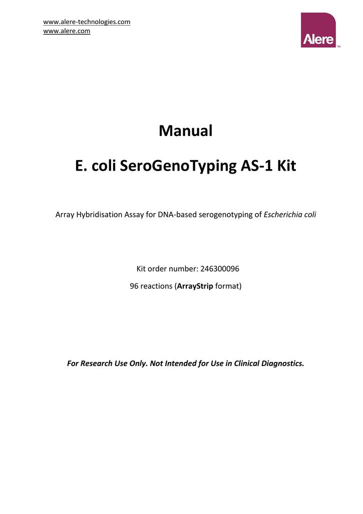 kit manual - Alere Technologies GmbH   manualzz com