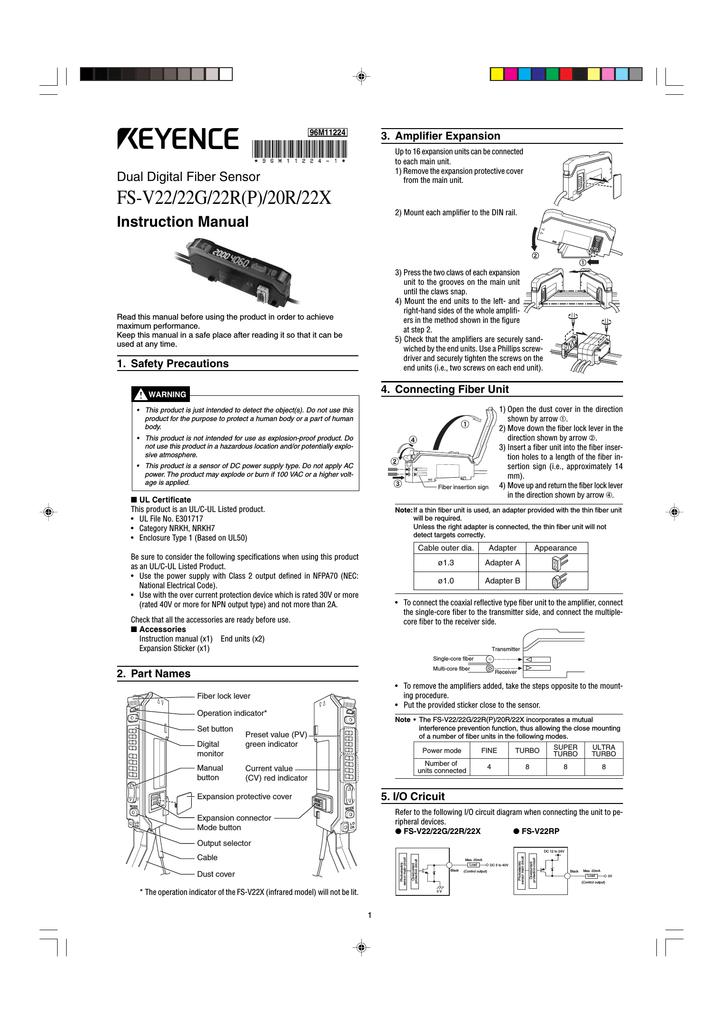 keyence fs v22 series sensor manual | Manualzzmanualzz