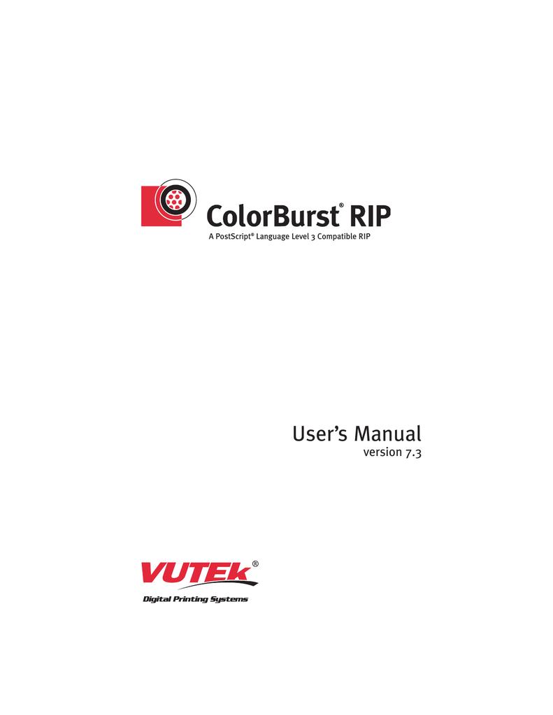 CB VUTEk MANUAL 7 3 | manualzz com