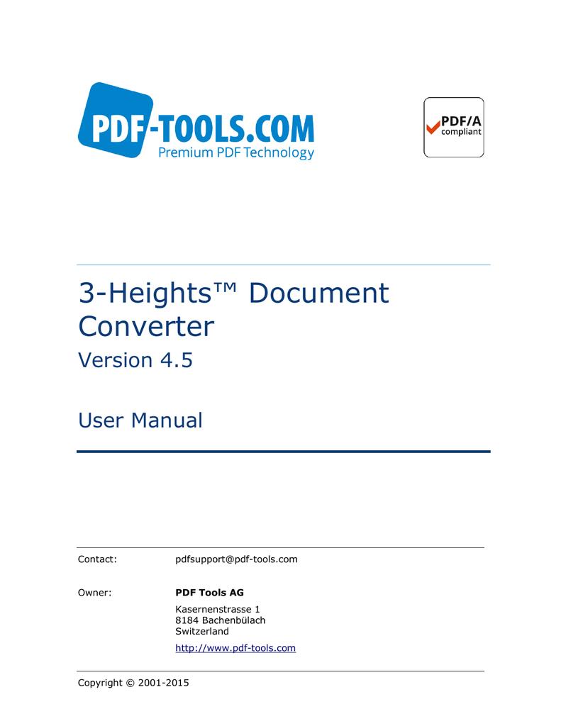 3-Heights™ Document Converter, User Manual   manualzz com