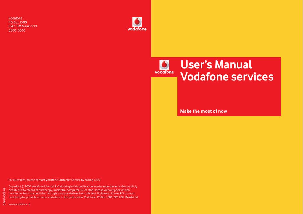 User`s Manual Vodafone services   manualzz com