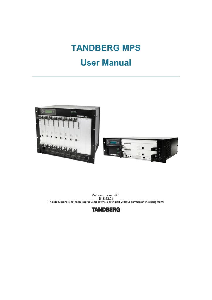 tandberg mps 800 user manual manualzz com rh manualzz com Tandberg Website Tandberg Equipment