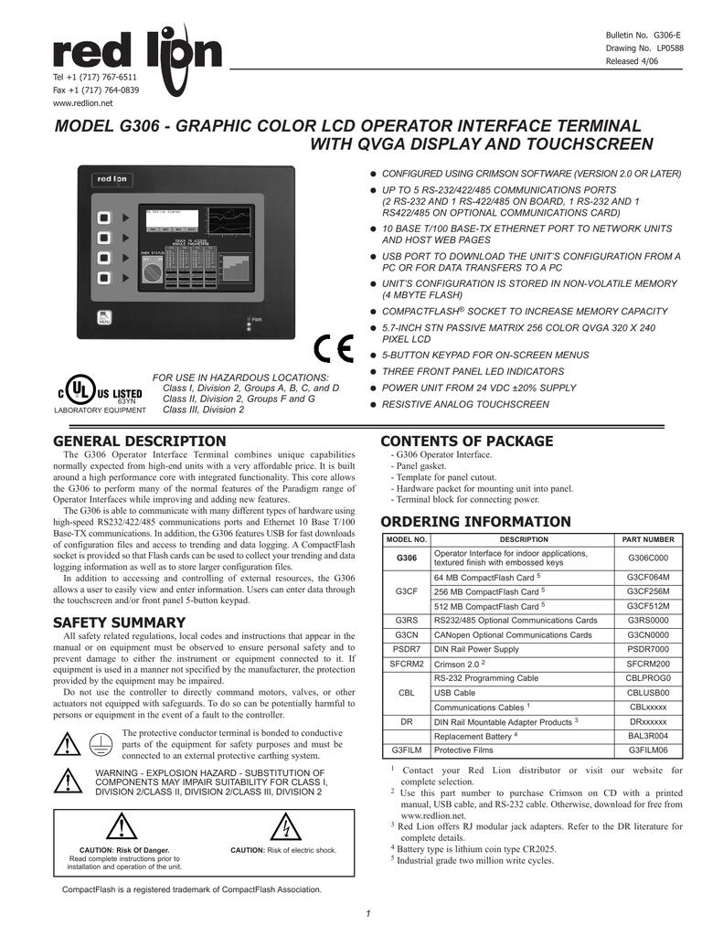 G306c Data Sheetmanual Pdf Manualzz