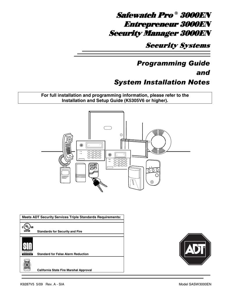 Safewatch Pro ® 3000EN Entrepreneur 3000EN Entrepreneur | Manualzz | Adt Safewatch Pro 3000 Wiring Diagram |  | Manualzz