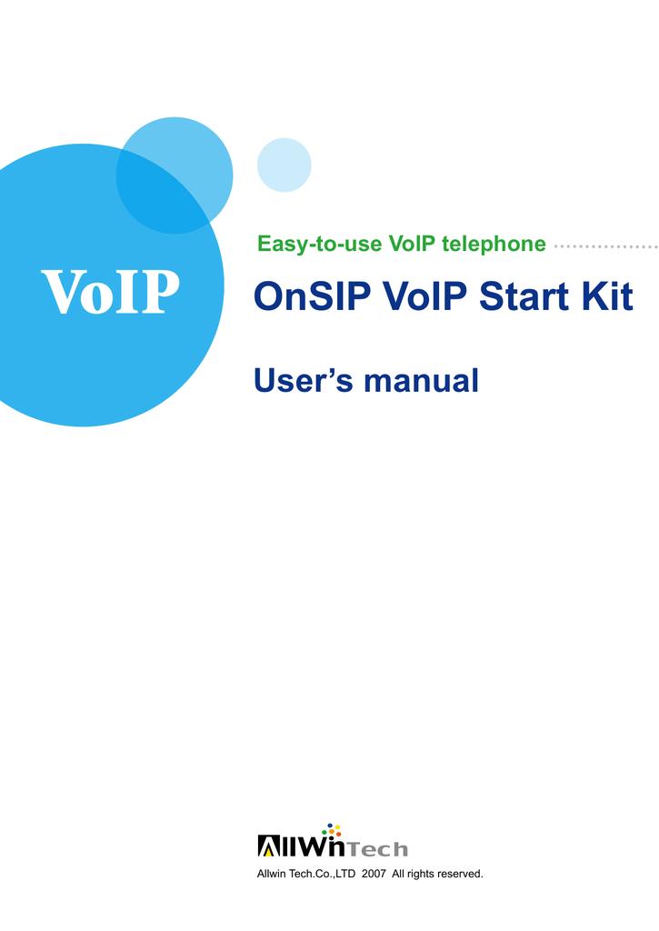 VoIP OnSIP VoIP Start Kit | manualzz com