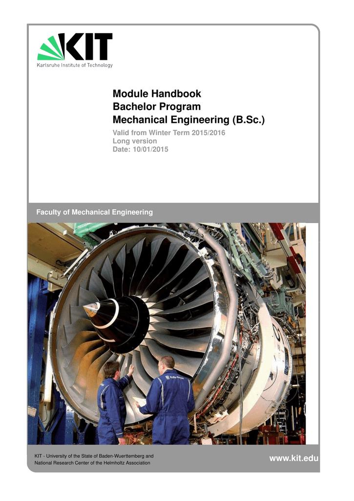 Module Handbook Bachelor Program Mechanical Engineering B