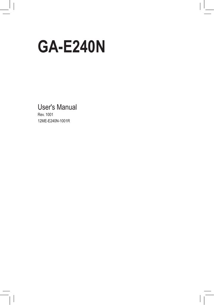GIGABYTE GA-E240N LAN TREIBER