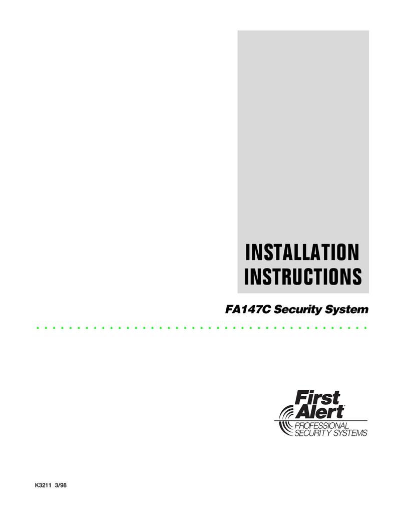 Fa147c Installation Manual Loud Piezo Alarm Beeper Alarmcontrol Controlcircuit Circuit