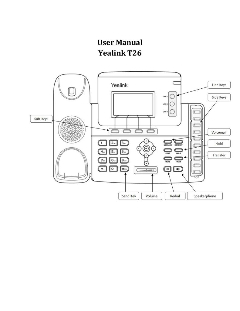 Yealink T26 Phone Manual | manualzz com