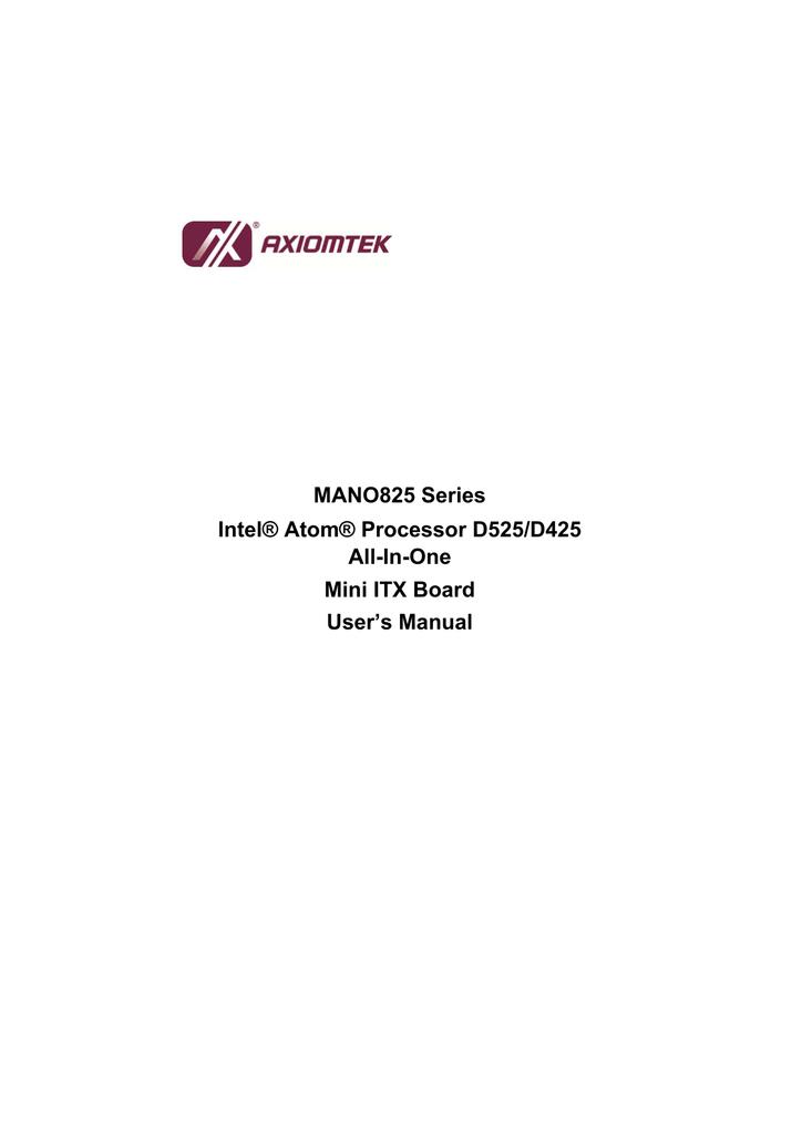 MANO825 Series Intel® Atom® Processor D525/D425 All