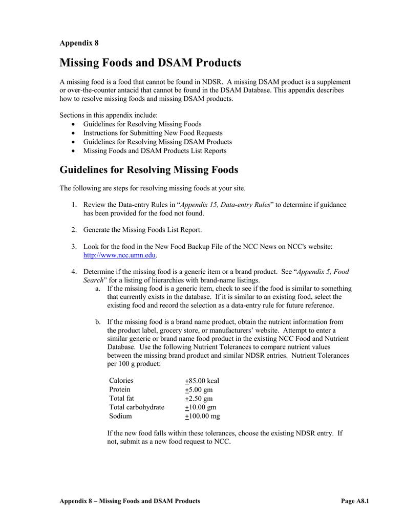 Appendix 8 of the NDSR User Manual | manualzz com