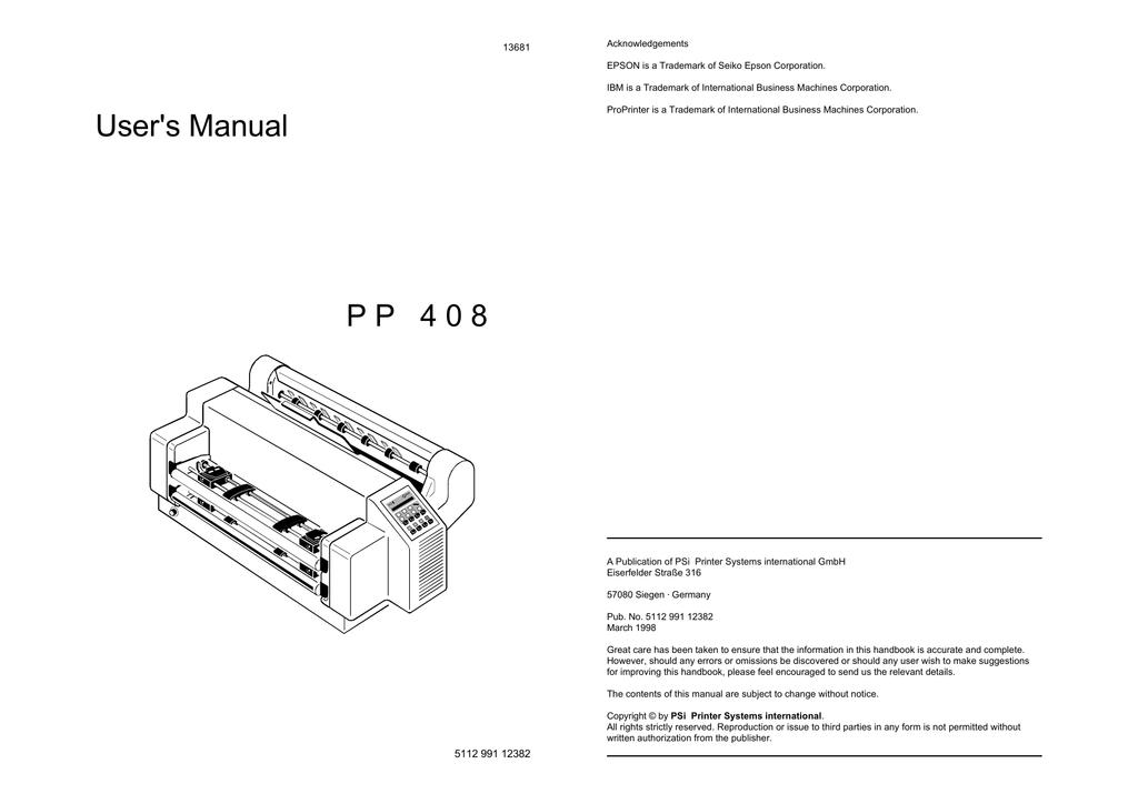User`s Manual P P 4 0 8 | manualzz com