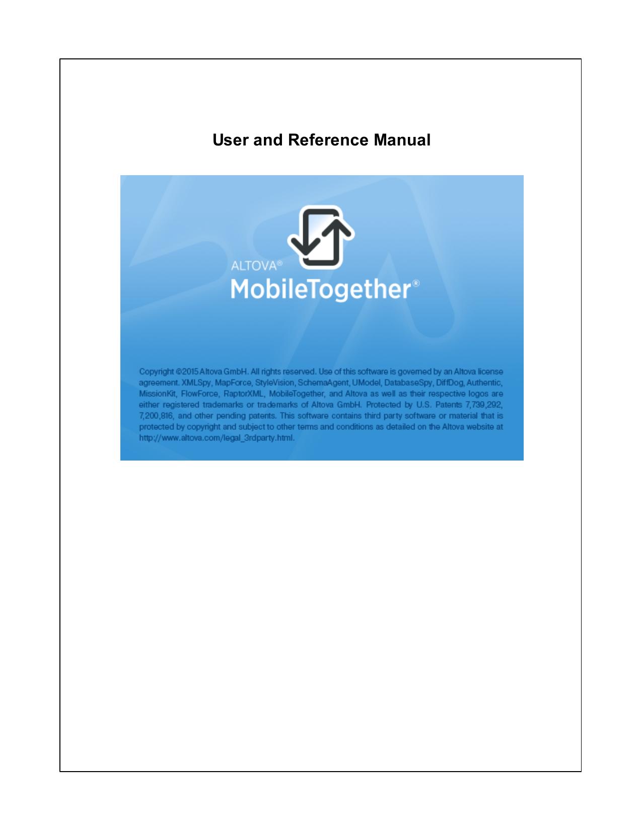 Altova MobileTogether Designer | manualzz com