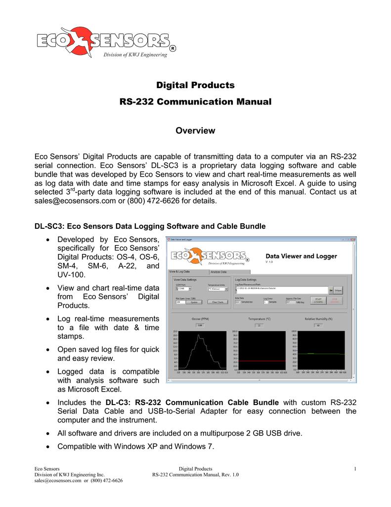 Rs 232 Communications Manual Powered Temperature Sensor